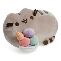 "Gund Pusheen Plush Ice Cream Sundae Snackable 12"" Stuffed Cat Animal Toy... - $19.80"