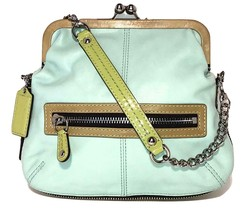 NEW WOT Coach Bonnie # 13378 ~ Leather Small Bag / Foldover Clutch - $69.00