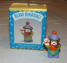 HALLMARK Merry Miniatures Charm Happy Birthday Clown Collectors Series 1997 - $10.68