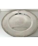 "Vintage Silverplate 11 1/2"" Round Serving Platter Etched Bent Elbow Scim... - $12.65"