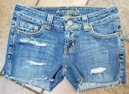 American Eagle Jean size 2 distressed  cut-off shorts, Nice! (w1) - $19.79