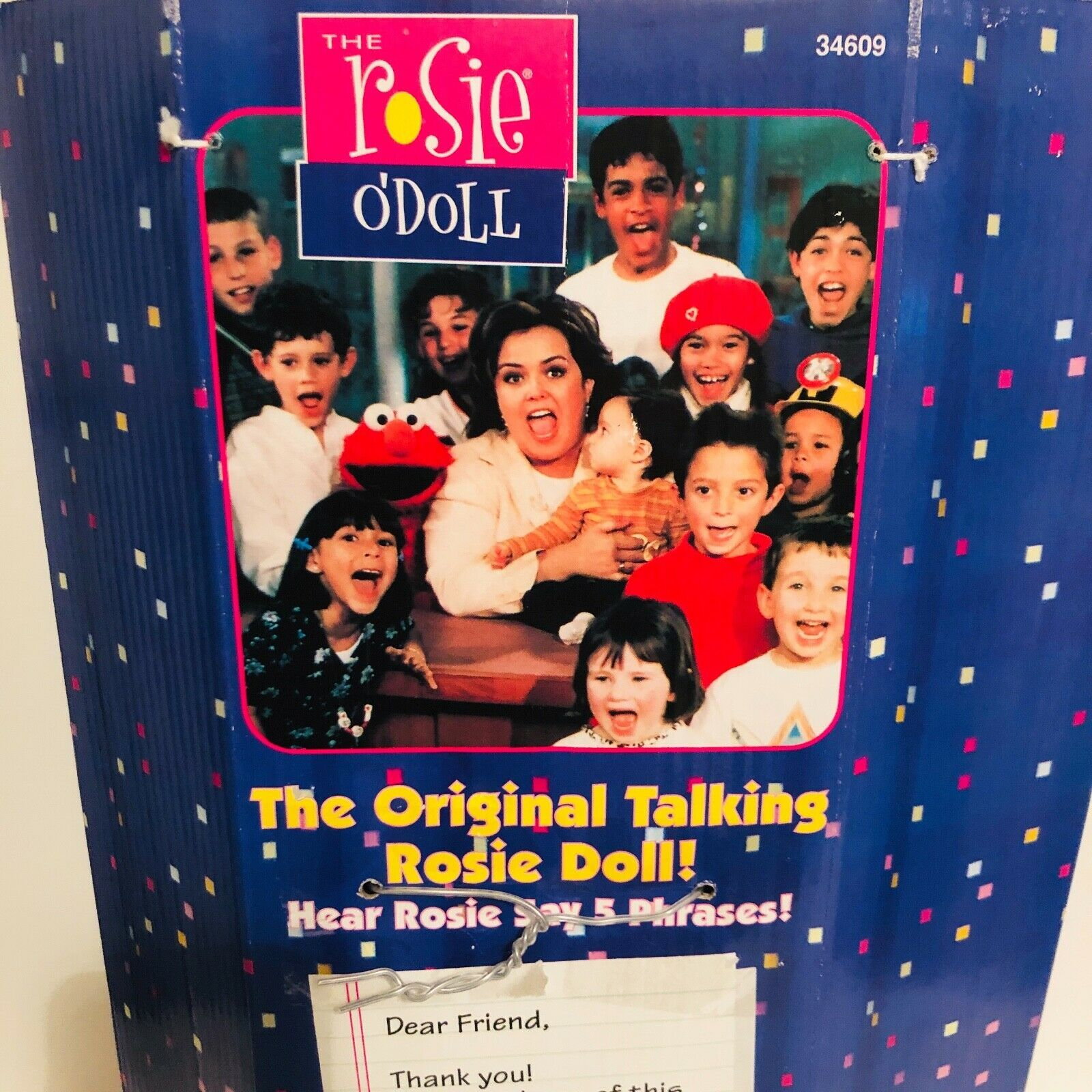 """New 1997 Rosie O'Donnell (O'Doll) Talking Celebrity Plush Doll 18"""" Tyco- Tested image 6"""