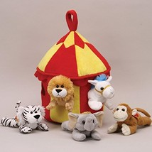 Plush Circus Animal House with Animals - Five (5) Stuffed Circus Animals... - $29.00
