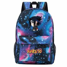 Naruto Theme Fighting Anime Series Backpack Schoolbag Daypack Starry Sky Sasuke - $25.99