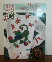 Daisy Kingdom Poinsettia Cat Applique No Sew Christmas   - $6.89