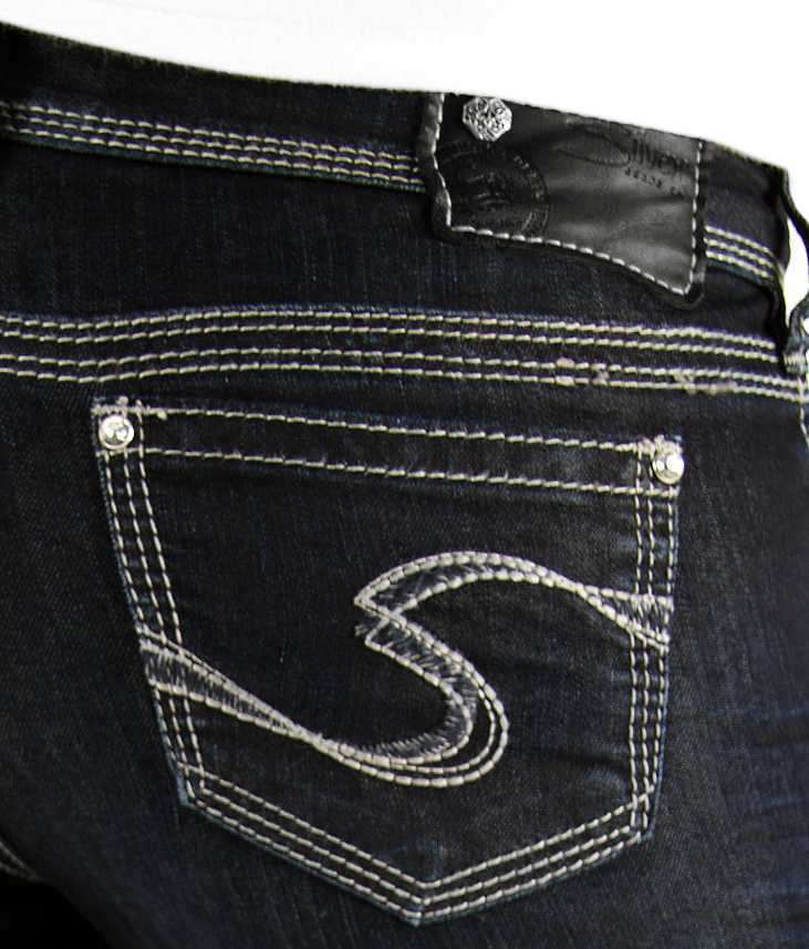 New SILVER Jeans Sale Buckle Low Rise Dark Tuesday Denim Jean Stretch Shorts 26