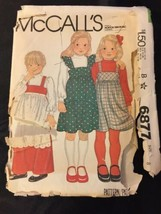 1979 McCall's Sewing Pattern 6877 S Girls 8 Jumper Blouse Apron Uncut - $5.45