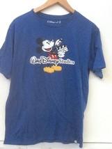 Adult S Blue Walt Disney Studios Store Mickey Organic Cotton Blend T Shirt - $14.95