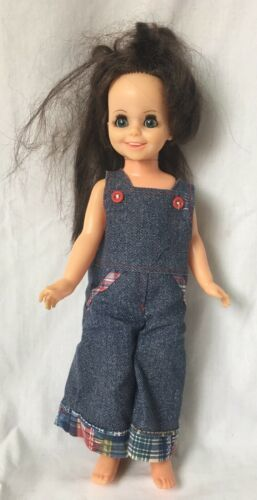 Primary image for Vintage Ideal Toy Mia Doll from Crissy Family Growing Hair Brunette 1970 16""