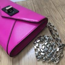 kate spade new york  Fuschia Hot Pink Leather Chain Shoulder Bag Crossbo... - £137.56 GBP