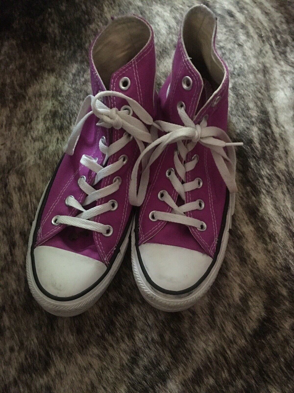 CONVERSE All Star Purple High Top Shoes Women's Size 8 Pre-Owned image 3