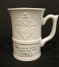 Russ Berrie Irish Blessing May Your Neighbors Respect You Ceramic Coffee... - $6.90