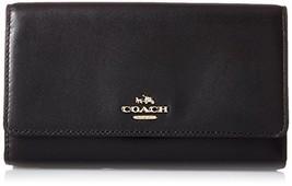 COACH Women's Smooth Leather Phone Crossbody Li/Black One Size