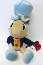 "DISNEY STORE CORE JIMINY CRICKET PLUSH DOLL TOY 15"" WPARTIAL HANGTAG & T... - $45.00"