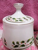 Holly Holiday Home for the Holidays Sugar Bowl with Lid Christmas - $7.00