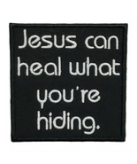 """Jesus Can Heal What You're Hiding Embroidered Applique Iron On Patch 3"""" ... - $5.96+"""