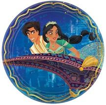 "Aladdin Disney Princess Jasmine Genie Kids Birthday Party 9"" Paper Dinner Plates - $9.66"