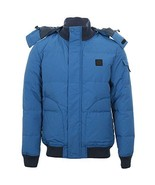 NWT Lacoste Mens Galaxie Down Hooded Winter Jacket Blue Large EU 54 - $227.69