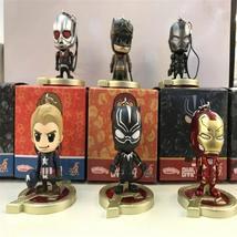 Avengers 6pcs/set Antman Captain America Black Panther Iron Man Doll  PV... - $35.00