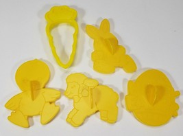 Wilton EASTER Cookie Cutters Lot of 5 ~ yellow ~ from 1990 - $9.99