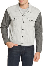 NEW LEVI'S MEN'S BUTTON UP DENIM JEANS JACKET TWO COLOR GRAY 808700001 size L