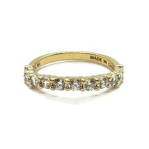 Michael Valitutti 18k On 925 Sterling Silver Dainty CZ Ring Size 5.25 - $34.64