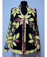 Leather leaf jacket women v neck design 10 genuine short zip up light lightweight xl 1 thumbtall