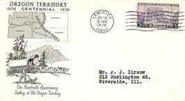 Oregon Territory Centennial Scott # 783 PM Lewiston ID Grimsland Cachet - $4.95