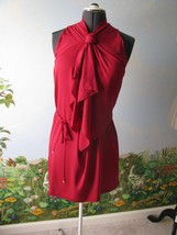 "Diane von Furstenberg DVF ""Morana"" Raspberry Dress Size 14 New with Ticket - $220.07"