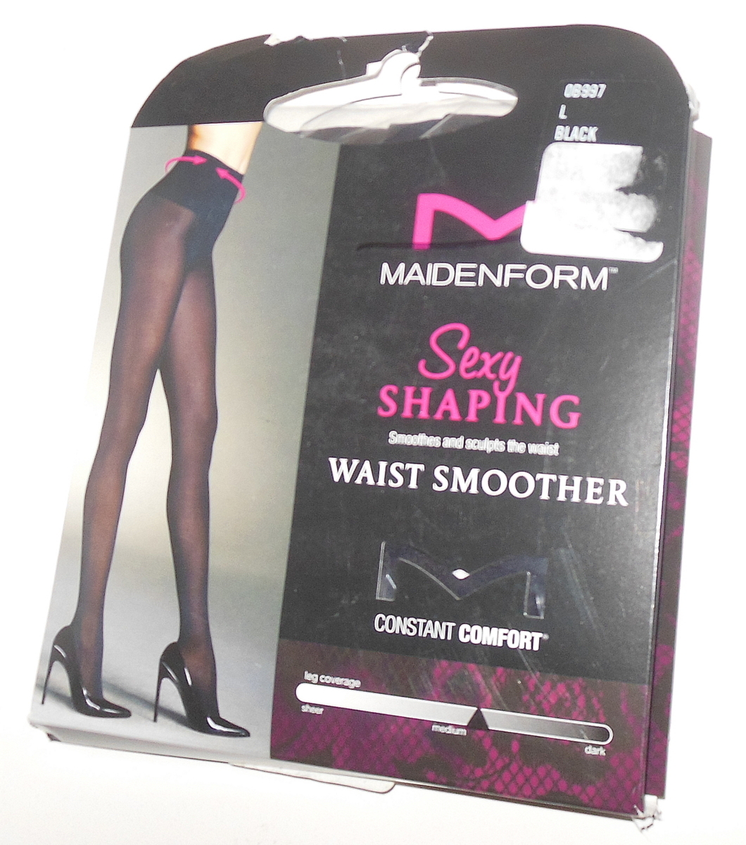 a49f86af6fa Maidenform Pantyhose Shaping Waist Smoother 60 Denier L Black Full Matte  Opaque