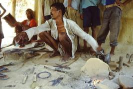 35mm Slide TUP Nepal Local Small Village Life People Blacksmith (#55) - $4.75