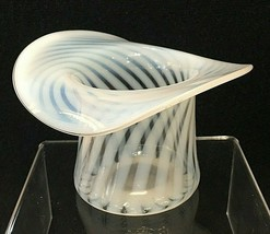 Antique Top Hat Moonstone Swirl Stunning 4 3/8 x 3 Inches  - $32.18