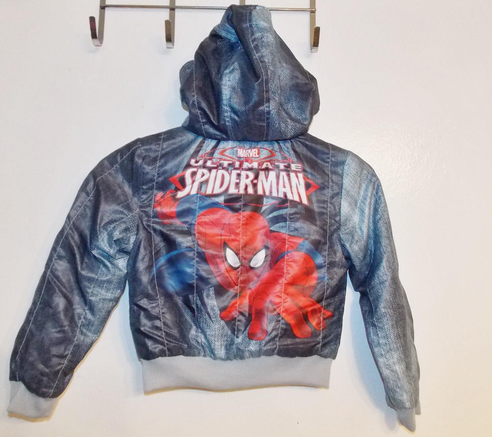 Marvel Ultimate Spiderman Boys Hooded Jacket Size XSmall 4-5 VGUC
