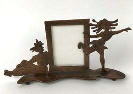 Vtg 90s Burnes of Boston Picture / Photo Frame Copper Metal Dancer Figur... - $26.68