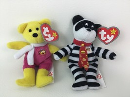 TY Hamburglar Birdie Plush Beanie Babies Bears 2pc Lot Toys McDonalds 2004 - $9.85