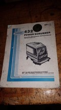 Tennant 432 Power Scrubber operation maintenance and parts manual book g... - $58.41