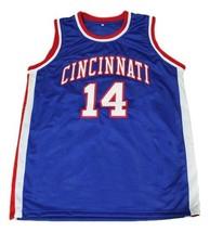 Oscar Robertson #14 Cincinnati Basketball Jersey Sewn Blue Any Size image 1