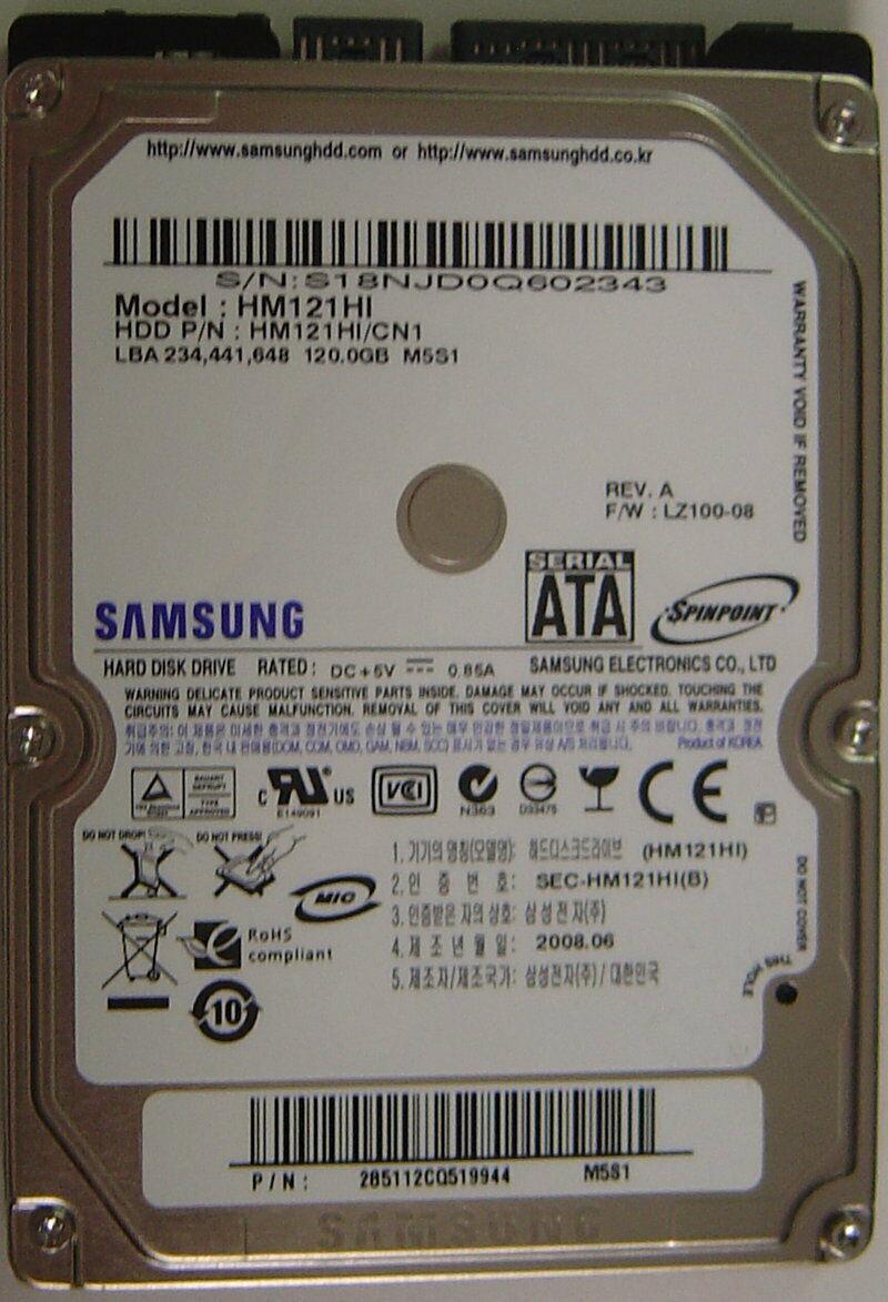 NEW HM121HI Samsung 120GB 2.5in SATA 9.5MM Hard Drive Free USA Ship