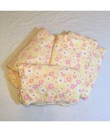 3 Pcs Twin Size Sheet Set Hibiscus Floral Yellow Pottery Barn Kid's 100%... - $38.69