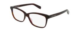Saint Laurent  SL 170 002 Eyeglasses Havana Brown Square Frame 54 mm - $138.59