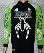 XMX Xtreme Motocross Padded Men's Jersey Black Green Spider Super Machin... - $14.80