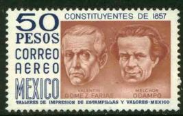 1975 Constitution of 1857 Mexico Airmail Stamp Catalog Number C451 MNH