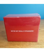 """We're Not Really Strangers Party Card Game With Red """"Starter"""" Box - $48.51"""