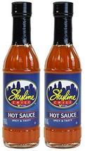 Skyline Chili Hot Sauce, 6 Fl Oz 177mL Glass Bottle Pack of 2