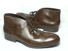 Cole Haan Men Size 10.5 Brown Leather Copley Chukka Boots Made in India New Box image 12
