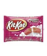 Raspberry Kit Kat Miniatures Pink Raspberry Creme 9 oz Bag BB 12 2021 NEW - $5.99