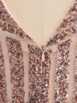 Mini Evening Party Dress - Sequins / V Neck / Sleeveless image 3