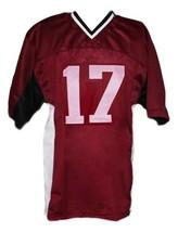 Stefan Salvatore #17 Vampire Diaries New Men Football Jersey Maroon Any Size image 5