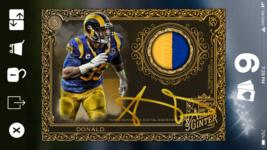 Topps HUDDLE ALLEN GINTER Aaron Donald Gold Signature Relic [DIGITAL CAR... - $14.84