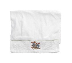 New Lenox (1) Hand Towel Fingertip Towel Blue Embroidered Flower Butterfly - $8.29